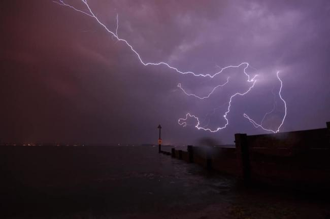 Lightning over Dorset. Picture by Echo Camera Club Dorset member Mark Lowles