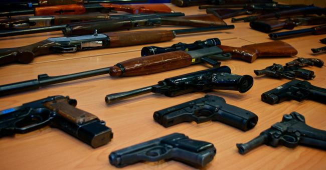 HANDED IN: Typical weapons handed over to police as part of firearms amnesty