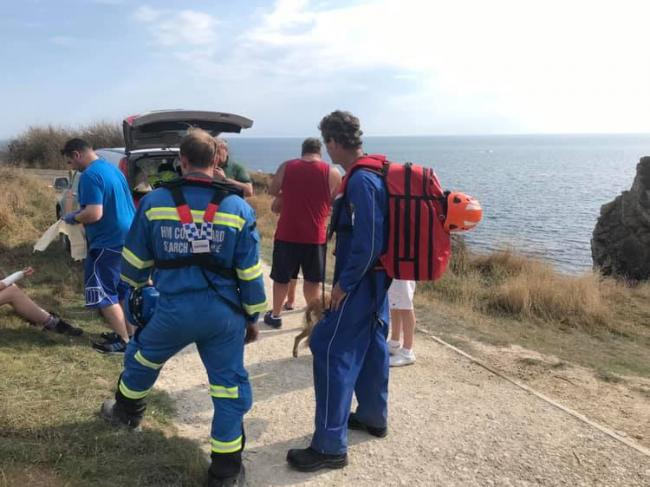 A teenager broke his arm after jumping from an arch at a beauty spot in Dorset. Picture: Lulworth Coastguard Rescue Team