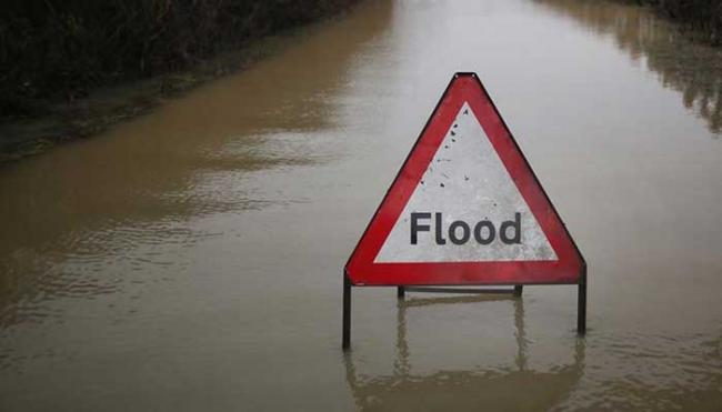 Flooding closes road in Dorset