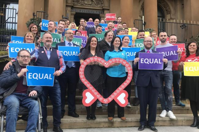 Same-sex couples celebrate marriage rights breakthrough in Northern Ireland
