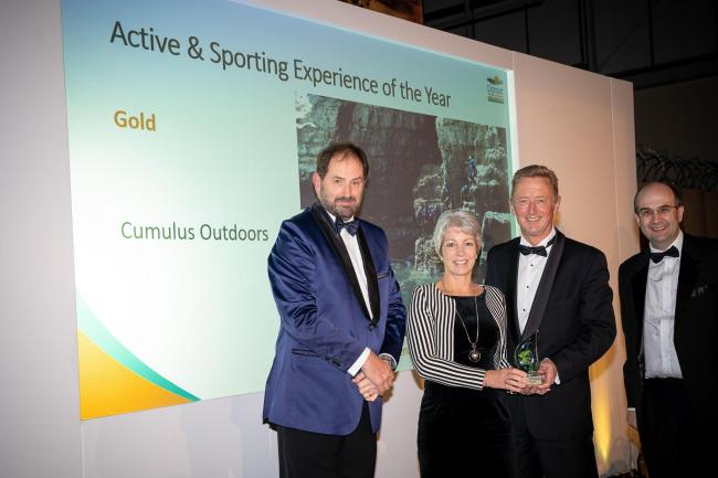 Steve Thompson and Jackie Lane receiving the award from Simon Cripps, Chief Executive Dorset Wildlife Trust, Nick Williams Photography