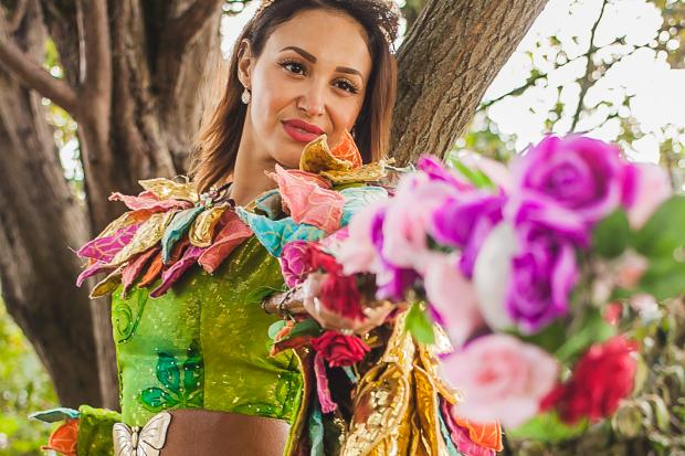 Former Sugababes singer Amelle Berrabah as the Fairy in Jack and the Beanstalk