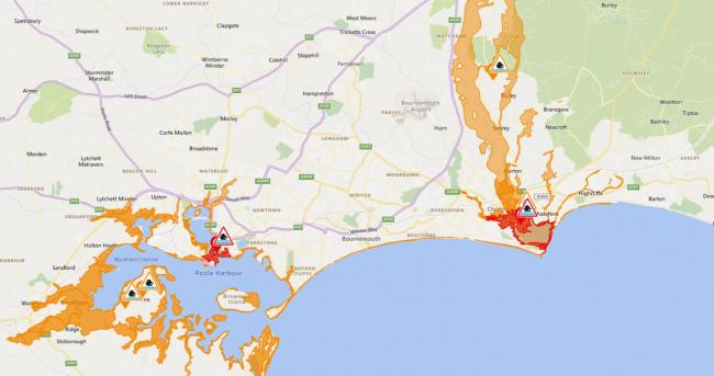 Flood warnings have been issued by the Environment Agency