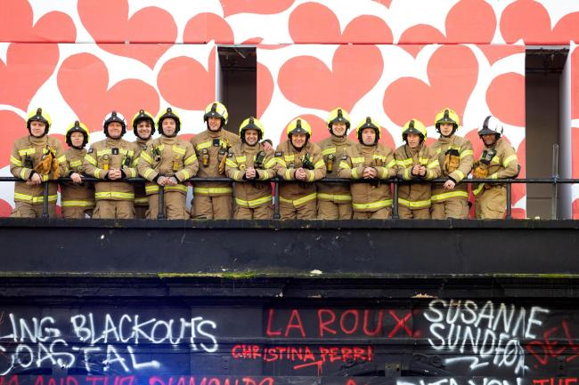 Firefighters outside Koko