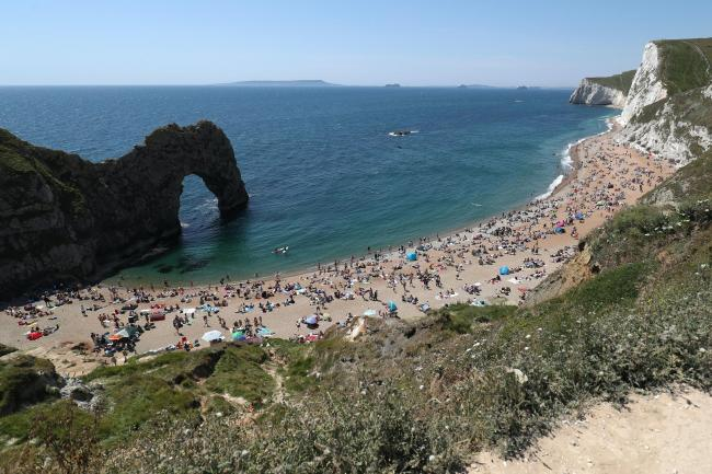 A woman fractured her ankle on the path to Durdle Door