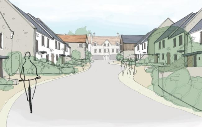 Sketches of the planned residential development at the former St Mary's School site in Manor Road, Swanage. Picture:Western Design Architects