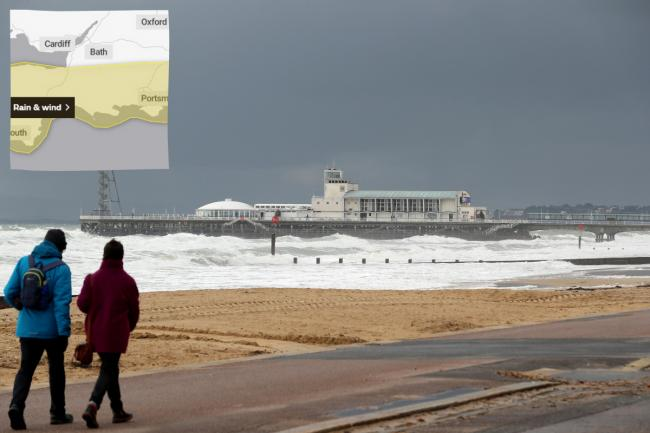 Met Office issues weather warning of strong winds and heavy rain