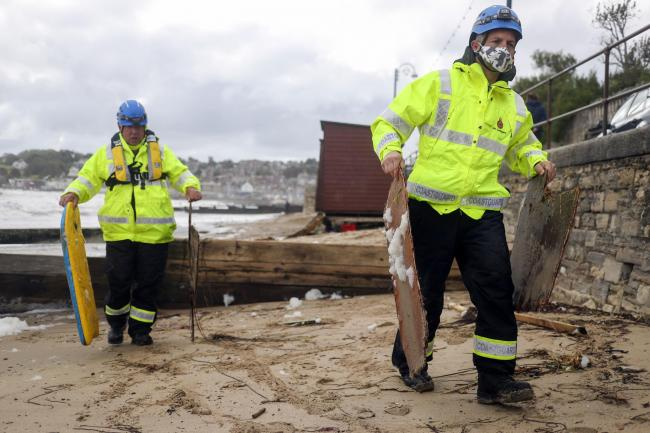 IN PICTURES: Storm Alex leaves its mark on Swanage