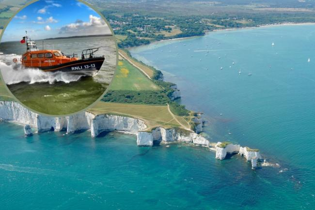 A body was found in the sea near Old Harry Rocks on Saturday October 17 2020. Aerial picture: Stephen Bath