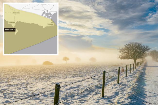 Met Office issues snow warning for Dorset. Main photo: Danny Howe