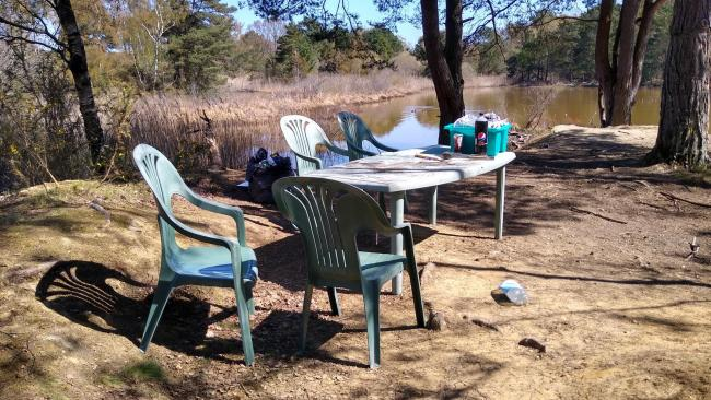 A garden furniture set and rubbish was left at Upton Heath Nature Reserve. Picture: Martin Adams