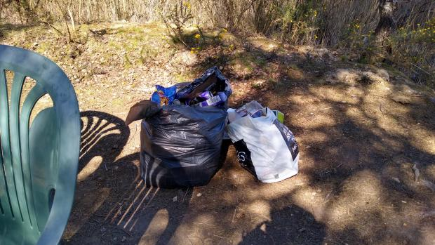 Swanage and Wareham Voice: Rubbish left off the Castleman Trail at Upton Heath. Picture: Martin Adams