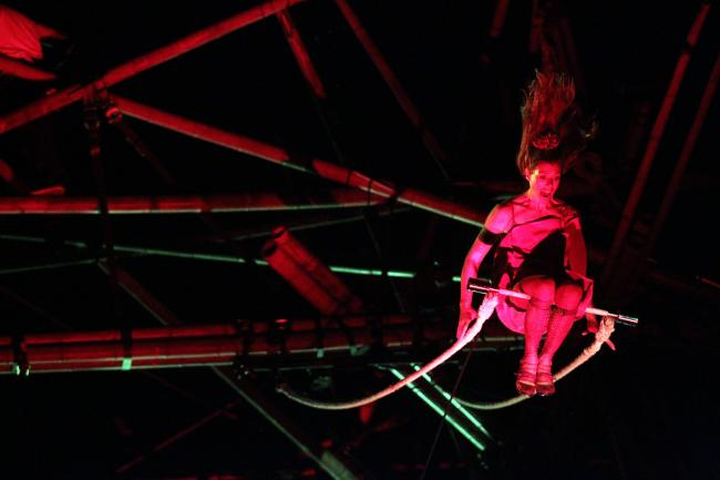 VIDEO: Stage set for British premiere as trapeze artists set to amaze in Poole Park tonight