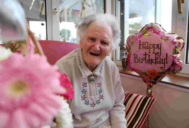 Meet the wonderful Lilian who could possibly be 'Swanage's oldest resident' at 106