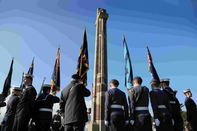 A rememberance service held in Poole Park