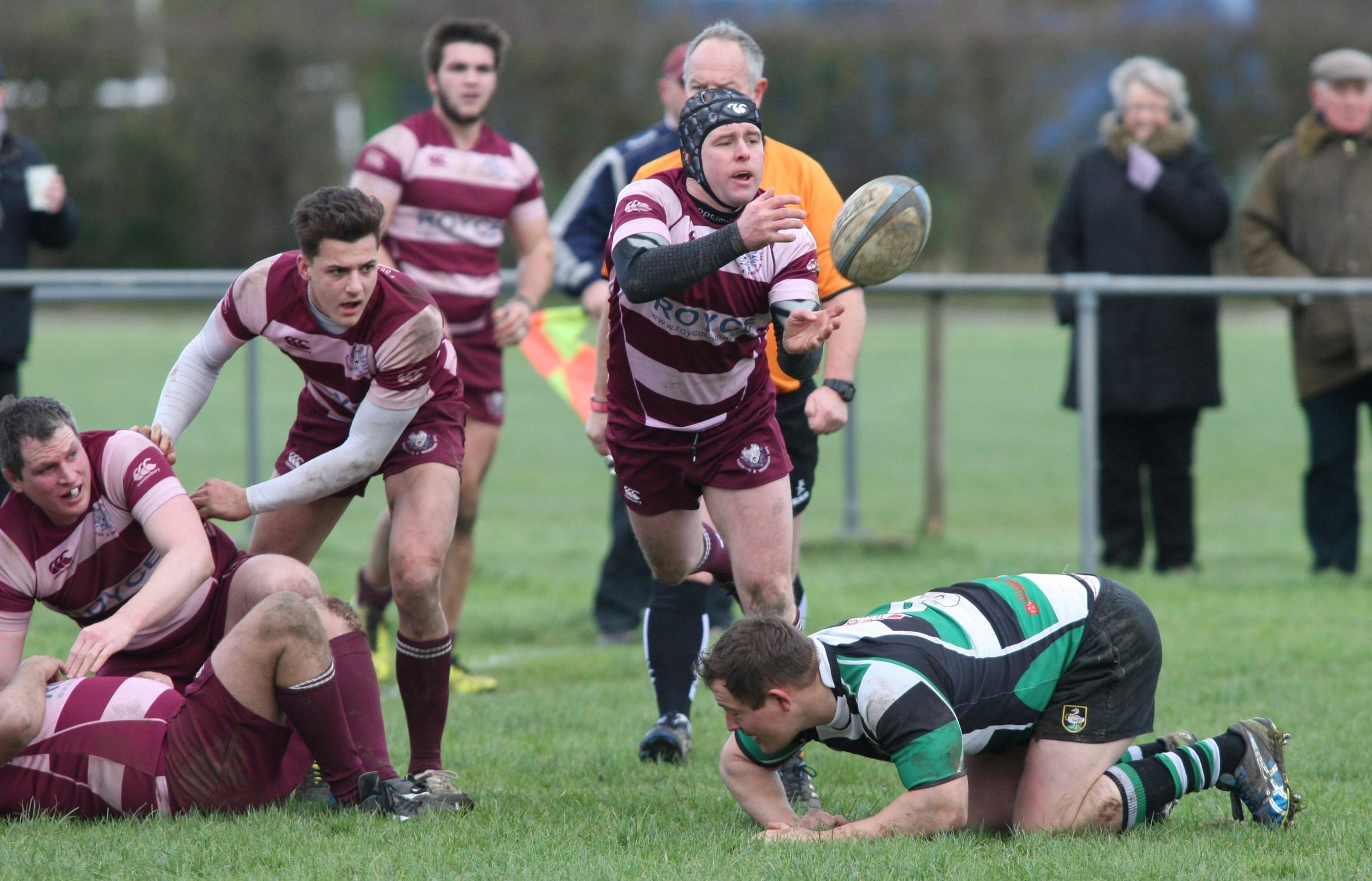 SCRUM-HALF: Chris Tomes in action for Swanage & Wareham