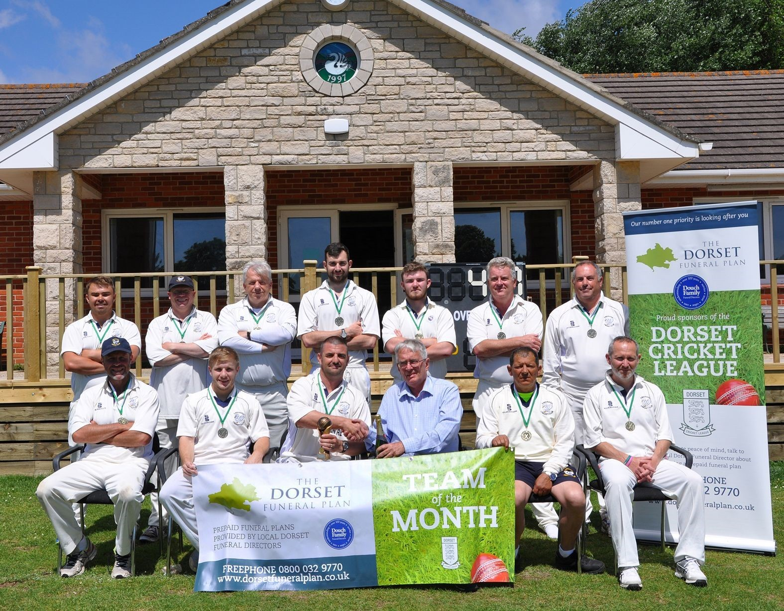 TOP SIDE: Swanage were named team of the month for May