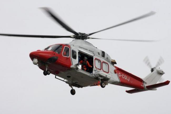 The Coastguard helicopter. File picture