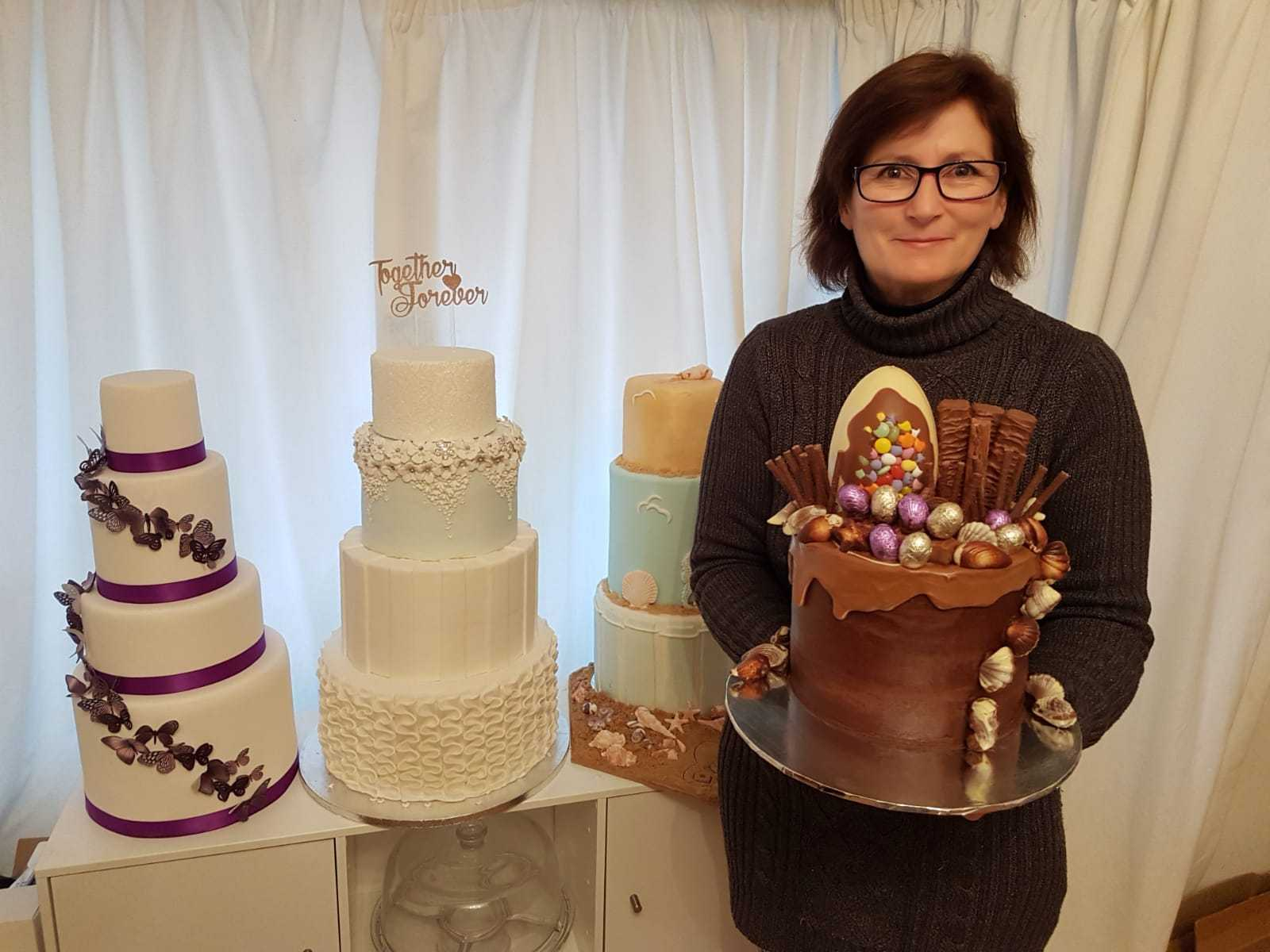 Annette Langley-Tayler with some of her creations
