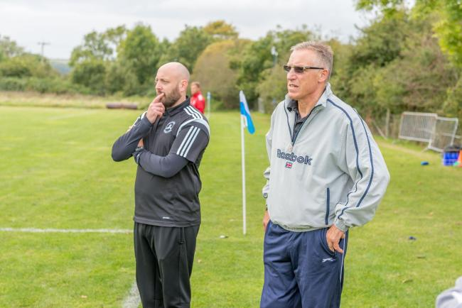 IN CHARGE: Martin Patterson, left (Picture: Greg Long)
