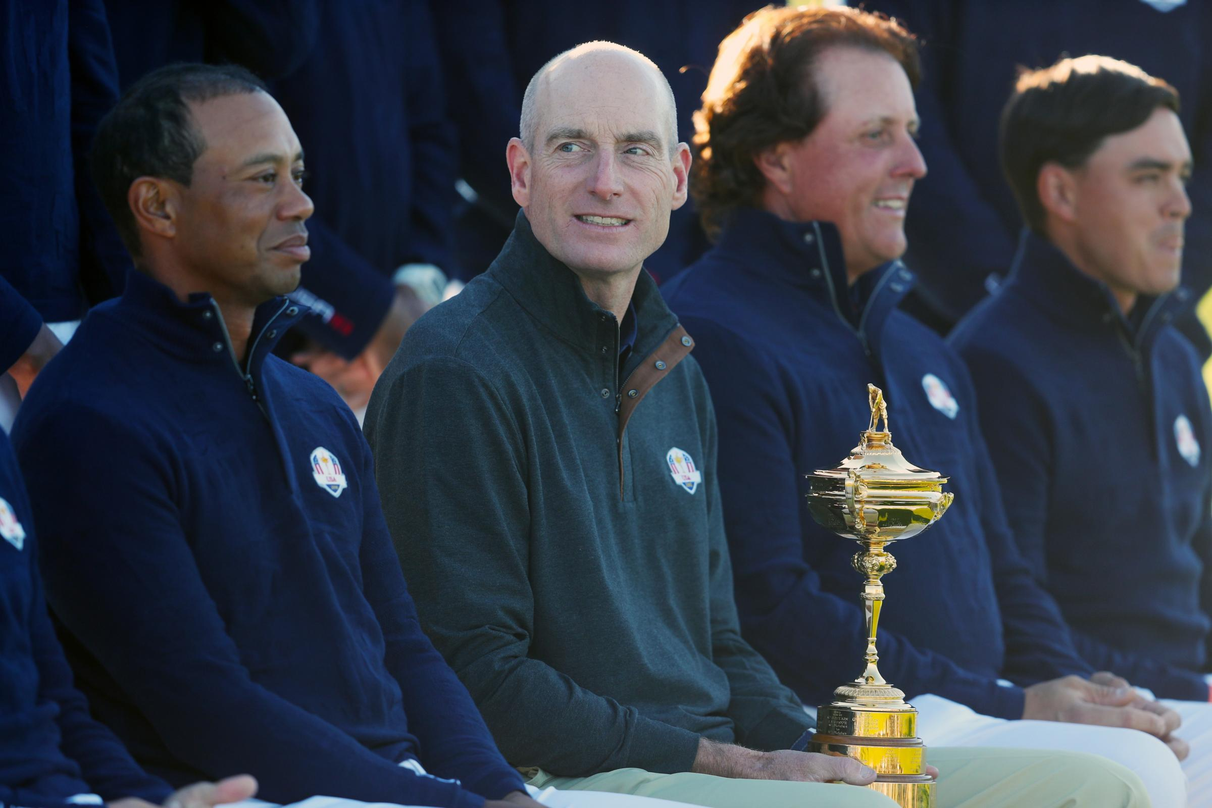United States Jim Furyk says it is unlikely Tiger Woods and Phil Mickelson will be paired together (David Davies/PA).