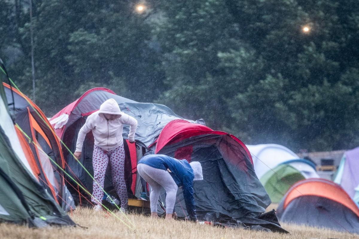 The final day of Camp Bestival 2018 was cancelled due to heavy rain and high winds. Picture: PA/Getty Images
