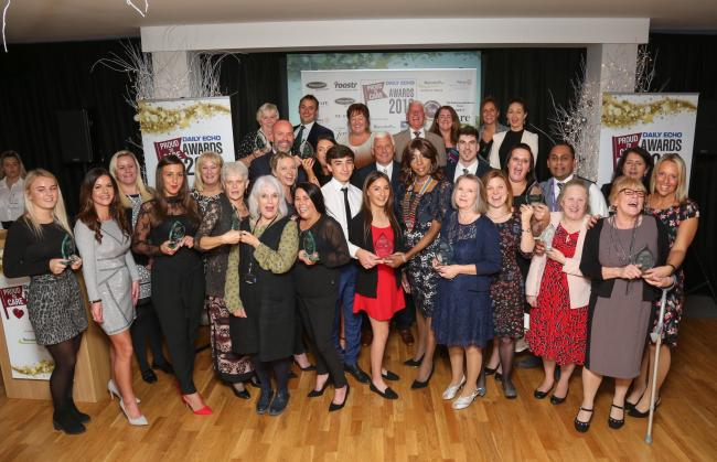 The winners of last year's Daily Echo Proud to Care Awards