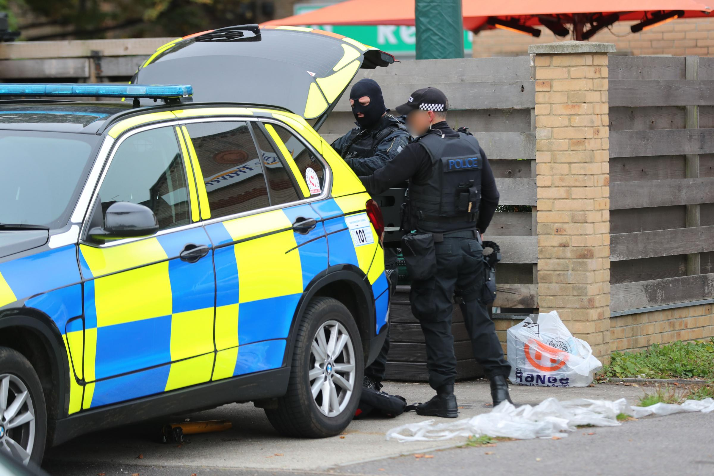 Armed police respond to an incident in Milburn Road, Westbourne