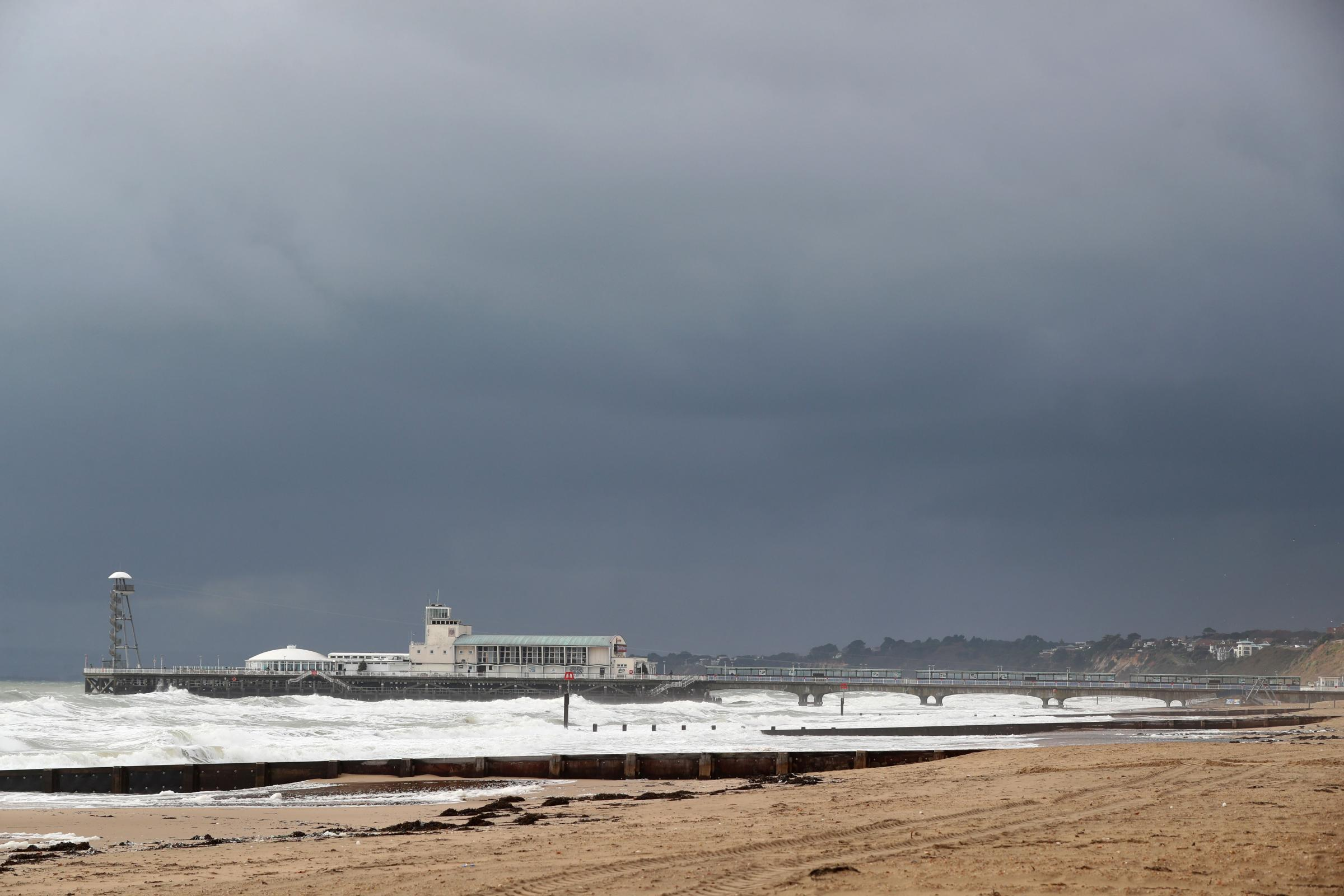 Bournemouth Pier on a windy grey day. file picture.