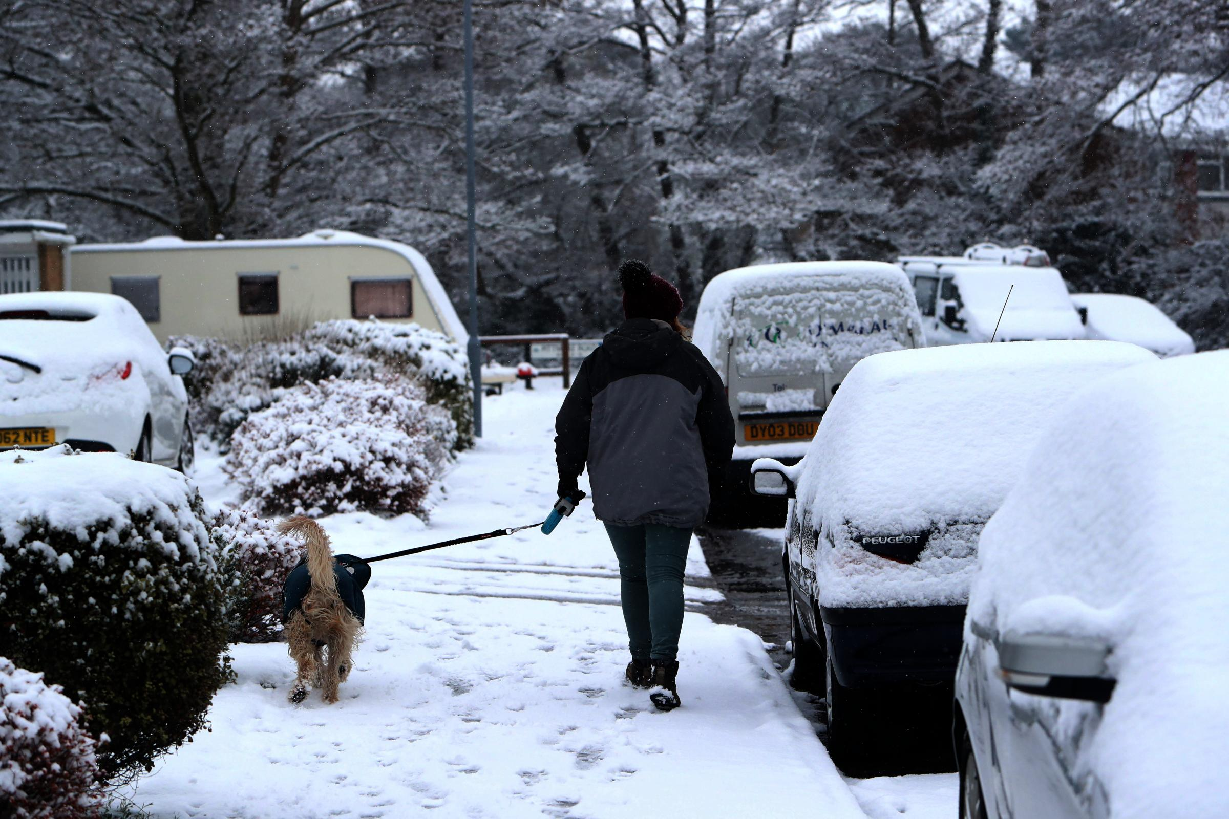 An amber warning for snow has been issued