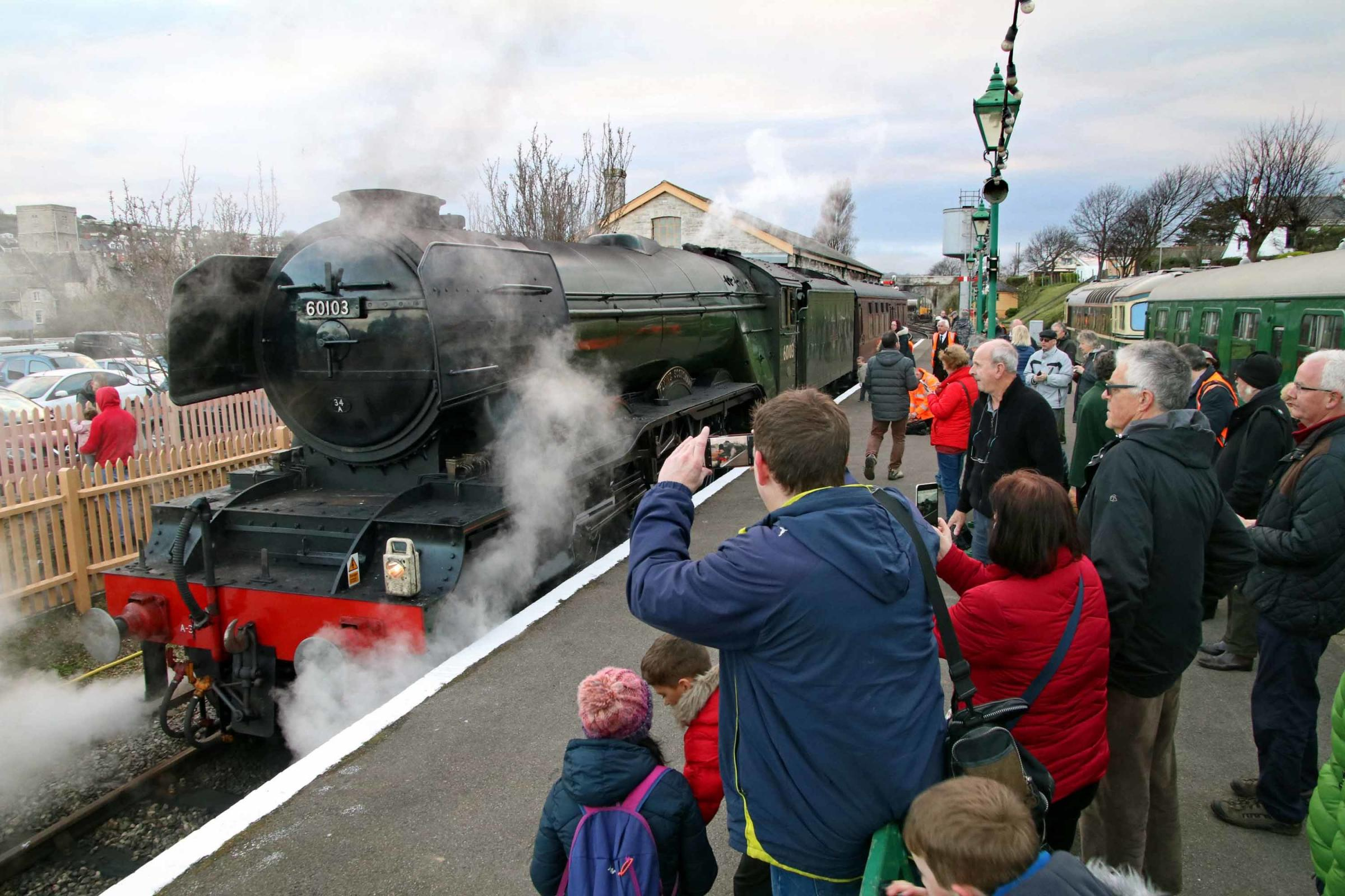 The Flying Scotsman at Swanage Railway. Picture: Andrew PM Wright