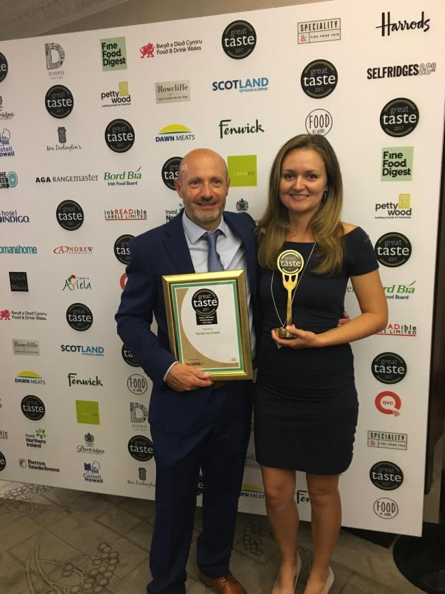 Ricky and Hannah Forte at the Great Taste Awards in 2017