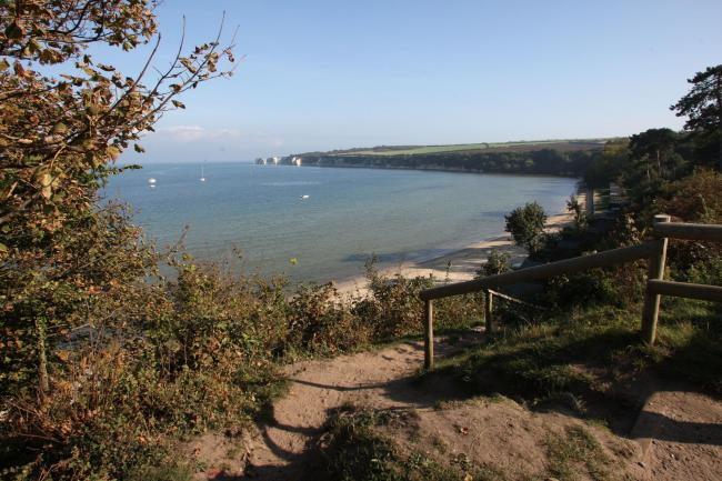 Studland beach and Old Harry Rocks