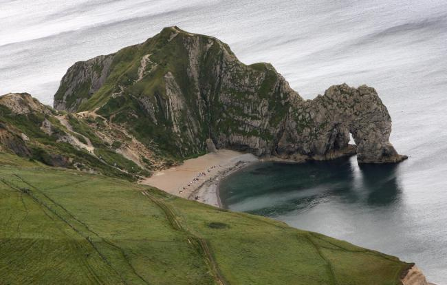 Durdle Door taken with the assistance of Bournemouth Helicopters