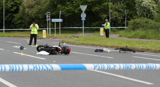 The scene of the crash on the A351 in Wareham